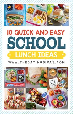 10 Quick and Easy School Lunch Ideas