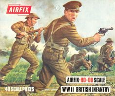 "As a quite recent event, WW 2 was a strong presence in my childhood. I learned from comics German phrases like ""achtung"" and ""donner und blitzen!"", and played for hours with these tiny Airfix soldiers."