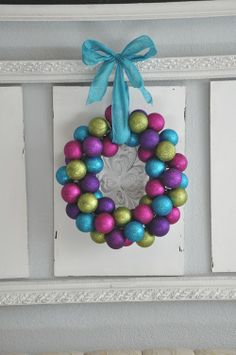 Gonna make my trip to Dollar Tree for supplies-- How to Make an Ornament Wreath:: Video Tutorial.