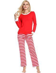 3735485c0a Avidlove Women Men Winter Pajamas Long Sleeve and Stripe Bottoms Cotton PJ  Set