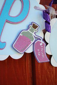 Alice in Wonderland Banner by KindredHillFarm on Etsy, $30.00