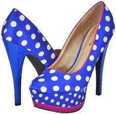 Qupid Penelope-51 Blue White Women Platform Pumps --- http://helpn.us/178