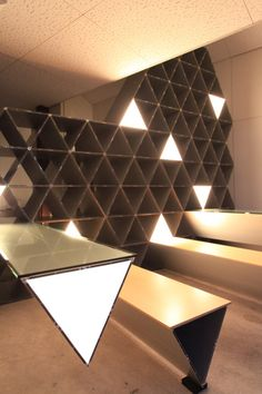 Kengo Kuma - Polygonium  cool idea for wine cellar