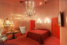 """Glitter Walls: In a round room. AKA """"The Merry"""" at the Madonna Inn."""