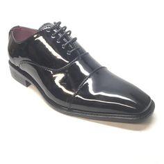 Alberto Fellini Black Patent PU Leather Cap Toe Dress Shoe - Dudes Boutique Mens Shoes Boots, Men's Shoes, Dress Shoes, High End Shoes, Leather Cap, Stylish Men, Derby, Oxford Shoes, Lace Up