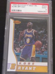 1996 Bowman's Best Kobe Bryant ROOKIE RC #R23, PSA MINT 9 by TOPPS. $49.99