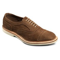 Strandmok 2.0 Suede Cap-toe Oxfords, 8250 Saddle Suede, blockout