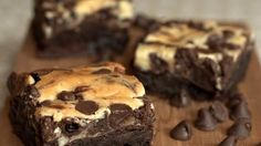 A brownie classic! Who can resist rich cream cheese marbled through rich fudgy brownies?