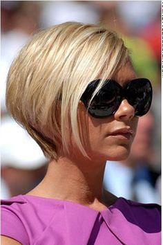 victoria beckham, Short Straight Hairstyle For Women