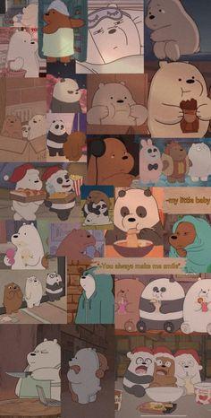 Cute Panda Wallpaper, Cute Patterns Wallpaper, Bear Wallpaper, Cute Disney Wallpaper, Kawaii Wallpaper, Cute Wallpaper Backgrounds, Hippie Wallpaper, Dark Wallpaper Iphone, Cartoon Wallpaper Iphone