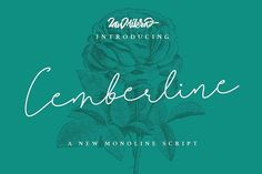 Cemberline Typeface by ianmikraz on @creativemarket