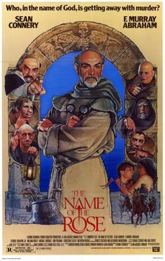 "MP777. ""The Name of the Rose"" Movie Poster by Drew Struzan (Jean-Jacques Annaud 1986)."