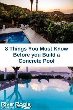 Are you thinking about building a concrete pool in your backyard? Here are 8 things you MUST know about concrete pool construction and ownership before you take your next step! #swimmingpools #ingroundpools #gunitepools #concretepool Pool Plaster, Vinyl Pool, Gunite Pool, Concrete Pool, Fiberglass Pools, Pool Construction, Pool Maintenance, Pool Builders, In Ground Pools