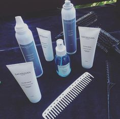 Sachajuan hair products and brushes-- gorgeous luxury hair line. It makes your hair feel soft and incredible.