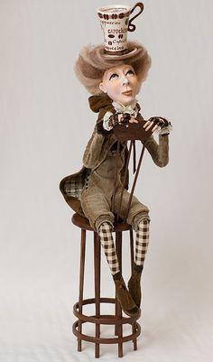 - by Nadejda Sokolova Clay Dolls, Art Dolls, Bjd, 3d Figures, Paperclay, Russian Art, Hello Dolly, Beautiful Dolls, Alice In Wonderland