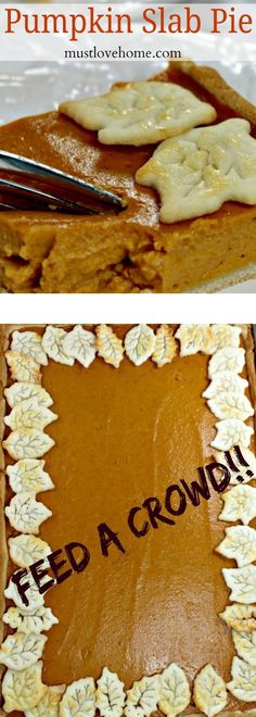 Pumpkin Slab Pie is just what you need to feed a crowd. Velvety and full of flavor, this is a modern take on a holiday favorite!