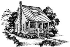 Cabins & Cottages Under 1,000 Square Feet: Little Red Plan #742
