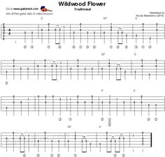 Wildwood Flower - The Carter Family, flatpicking guitar tablature Guitar Sheet Music, Guitar Songs, Guitar Chords, Guitar Tips, Guitar Bag, Guitar Strumming Patterns, Guitar Chord Chart, Learn Acoustic Guitar, Learn To Play Guitar