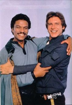 Star Wars: Episode V - The Empire Strikes Back Billy Dee Williams Lando Calrissian Star Wars and Harrison Ford as Hans Solo Star Wars Film, Han Star Wars, Star Wars Cast, Star Wars Love, Star War 3, Star Trek, Stargate, Images Star Wars, Star Wars Pictures