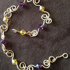 Spirals& crystals bracelet