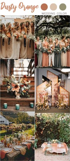 Wedding Color Trends: 30 Sunset Dusty Orange Wedding Color Ideas – Hi Miss Puff