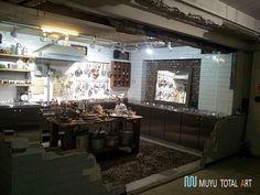 신사동 가로수길의 한블럭 뒤에 위치한 썬글라스 매장인 G..몬스터 매장2층의 주방 이미지입니다.썬글라스...