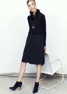 6 stylish ways to wear a black turtleneck dress