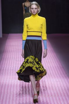Bright yellow as Mary Katrantzou's recipe against the winter blues?