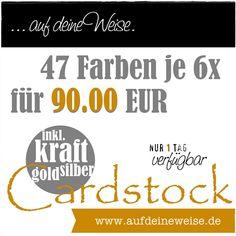 aufdeineweise.de – Shop: Nur heute! 47 Farben je 6 Bogen 12x12 Cardstock | 90.00 EUR #scrapbooking #cardmaking #aufdeineweise