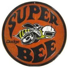 "12"" Round #Dodge #SuperBee Embossed #TinSign"