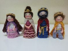 The Royal Family Finger Puppets King Queen Prince by AubreyMade, $48.00