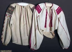 Two Regional Blouses, Romania, 19th C, Augusta Auctions, April 9, 2014 - NYC