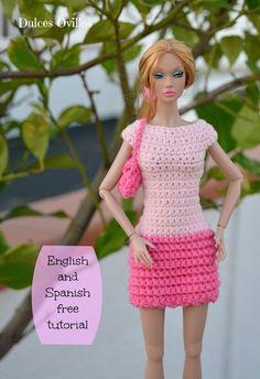 Dulces Ovillos: Vestido a crochet de muñeca Poppy Parker - Crochet Poppy Parker…