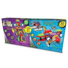 Techno Gears Rockin' Rover & Bionic Biplane Set Over 60 Colorful Construction Pieces in Each Set Power Motor with Moving Parts STEM Educational Product For Ages: Years Math Stem, Power Motors, Play Vehicles, Stem Learning, Photo Center, Out Of This World, Building Toys, 6 Years