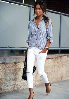 mural fashion: calça branca
