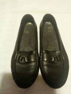 eb5c0559f8e SAS TRIPAD COMFORT FOOT BED SLIP-ON BLACK LOAFERS WOMENS SIZE 8 N  fashion