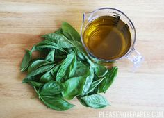 Please Note: Basil Infused Oil