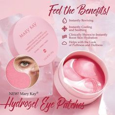 Hydrogel Eye Patches These patches give your eyes the wakeup they need! You can use them twice a week for 20 min or just anytime you feel you need it! You will absolutely fall in love Mary Kay Makeup Mary Kay Ash, Mary Mary, Mary Kay Party, Mary Kay Cosmetics, Hair Removal, Maquillage Mary Kay, Cremas Mary Kay, Mary Kay Satin Lips, Mary Kay Facial