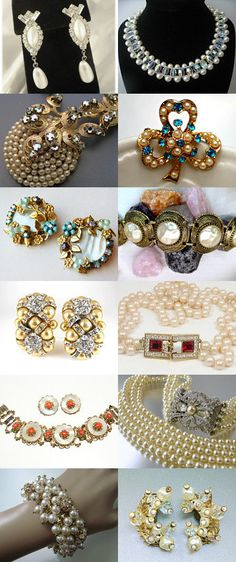 LUV Vintage Pearl Fashion! by jeweledLuv on Etsy--Pinned with TreasuryPin.com