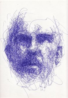 Scribble portraits stylo bic, continuous line drawing, creative portraits, scribble art, gesture Art Inspo, Inspiration Art, Art And Illustration, Pintura Graffiti, Graffiti Artists, Scribble Art, Arte Sketchbook, Gesture Drawing, Creative Portraits