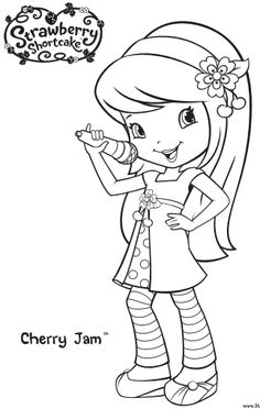 Coloriage charlotte aux fraises oameni pinterest for Strawberry shortcake birthday coloring pages