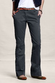 Stretch Barely Boot Chino $29.99. What a great, casual look for work.