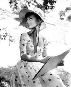 Audrey Hepburn in War and Peace, 1955.