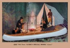 Guide's Special Model' Canoe 12x18 Giclee on canvas