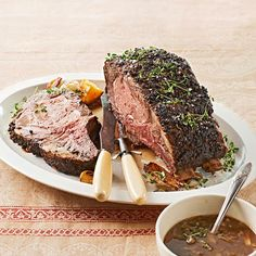 Chef Melissa Perello uses a special garlic-rub to enhance this holiday roast's savory flavor. Find the recipe here: http://www.bhg.com/recipe/holiday-rib-roast-with-grain-mustard-sauce/?socsrc=bhgpin122212garlicrib