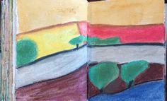 Watercolour pencils.