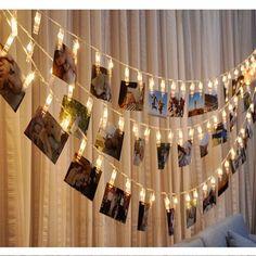 Starry Photo Holder String Lights