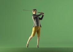 Le golfeur #Moïmee3D #CoolDeLuxe #CourBleue #BHV #Danse #Moïmap #Design