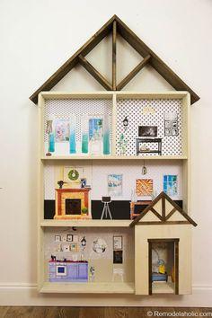 DIY Dollhouse Tutorial + Free Printable Dollhouse Furniture