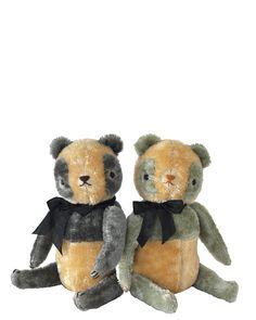 jennifer murphy bears — COLORFUL PANDAS ::grey & seafoam::
